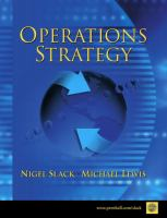Cover image for Operations strategy