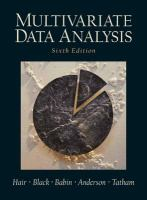 Cover image for Multivariate data analysis