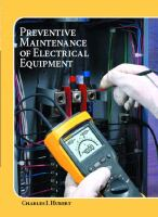 Cover image for Operating, testing, and preventive maintenance of electrical power aparatus