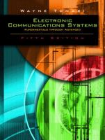 Cover image for Advanced electronic communications systems