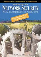 Cover image for Network security : private communication in a public world
