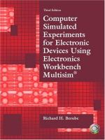 Cover image for Computer simulated experiments for electronic devices using Electronics Workbench Multisim