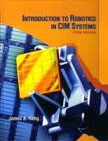 Cover image for Introduction to robotics in CIM systems