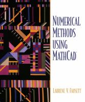 Cover image for Numerical methods using MathCAD