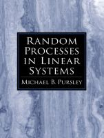 Cover image for Random processes in linear systems