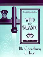 Cover image for Water and Plumbing