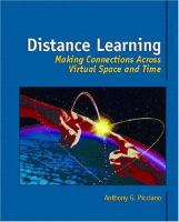Cover image for Distance learning : making connections across virtual space and time