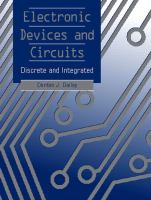 Cover image for Electronic devices and circuits : discrete and integrated