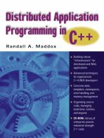 Cover image for Distributed application programming in C++
