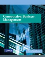 Cover image for Construction business management