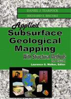 Cover image for Applied subsurface geological mapping : with structural methods