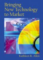 Cover image for Bringing new technology to market