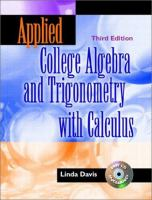 Cover image for Applied college algebra and trigonometry with calculus