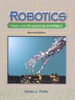 Cover image for Robotics : introduction, programming, and projects