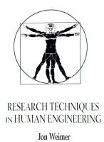 Cover image for Research techniques in human engineering