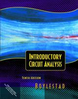 Cover image for Introductory circuit analysis electronics workbench circuit files