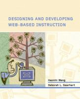 Cover image for Designing and developing web-based instruction