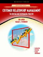Cover image for Customer relationship management : the bottom line to optimizing your ROI
