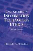 Cover image for Case studies in information technology ethics