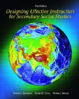 Cover image for Designing effective instruction for secondary social studies