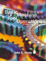 Cover image for Basic machine tool operations