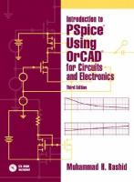 Cover image for Introduction to PSpice using OrCAD for circuits and electronics