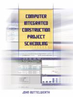 Cover image for Computer integrated construction project scheduling