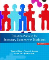 Cover image for Transition planning for secondary students with disabilities