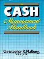 Cover image for The cash management handbook / Christopher R malburg