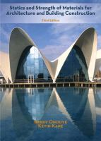 Cover image for Statics and strength of materials for architecture and building construction