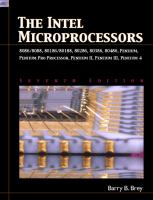 Cover image for The intel microprocessors:  8086/8088, 80186/80188, 80286, 80386, 80486, pentium, and pentium pro processor, Pentium II, Pentium III, and Pentium 4 : architecture, programming, and interfacing