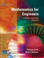 Cover image for Mathematics for engineers : a modern interactive approach
