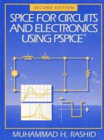 Cover image for SPICE for circuits and electronics using PSpice