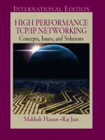 Cover image for High peformance TCP/IP networking : concepts, issues, and solutions
