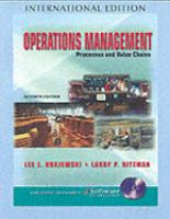 Cover image for Operations management : processes and value chains