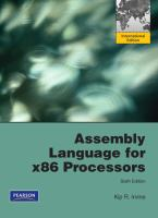 Cover image for Assembly language for x86 processors