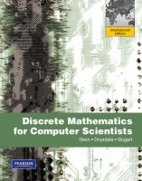 Cover image for Discrete mathematics for computer scientists