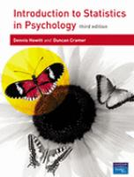 Cover image for Introduction to statistics in psychology