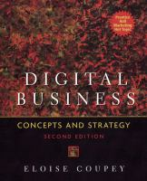 Cover image for Digital business : concepts and strategy