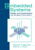 Cover image for Embedded systems : design and applications with the 68HC12 and HCS12