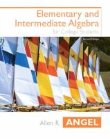 Cover image for Elementary and intermediate algebra for college students