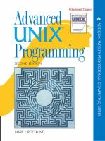 Cover image for Advanced UNIX programming