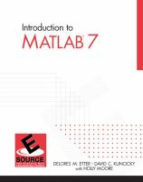 Cover image for Introduction to MATLAB 7