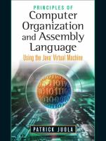 Cover image for Principles of computer organization and Assembly language : using the Java virtual machine