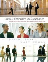 Cover image for Human resource management : managing employees for competitive advantage