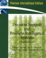 Cover image for Decision support and business intelligence systems