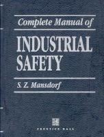 Cover image for Complete manual of industrial safety