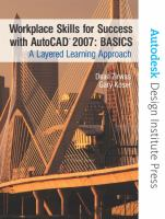 Cover image for Workplace skills for success with AutoCAD 2007 : basics : a layered learning approach