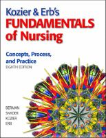 Cover image for Kozier and Erb's fundamentals of nursing : concepts, process, and practice