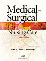 Cover image for Medical-surgical nursing care